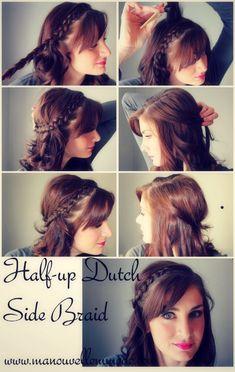 Half up Dutch Side Braid – Tutorial