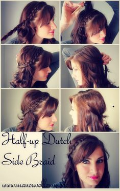 Half up Dutch Side Braid – Tutorial