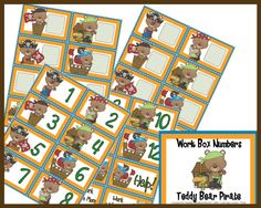 Teddy Bear Pirates -- Workbox Tags