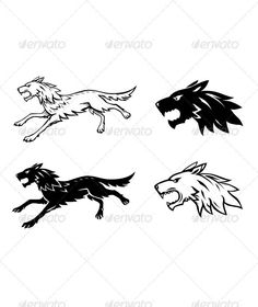 Wolf Illustration Black and white wolf emblem main file: *.EPS additional files: hi-res *.PSD with transparancy and layers, hi-res *.JPG Created: GraphicsFilesIncluded: PhotoshopPSD Layered: Yes MinimumAdobeCSVersion: CS Tags: animals Wolf Illustration, Wolf Emblem, White Wolf, Black And White, Wood Animal, Warrior Spirit, Viking Art, Vector Design, Cool Drawings