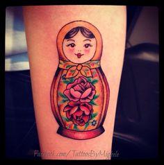 Russian doll tattoo.