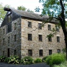 This Germanic house-mill is located in the Penn Dutch country of Lehigh County, Pennsylvania. It is the only known integrally built house-mill in the United States. Oswald's Mill offers square feet of authentic Old Stone Houses, Stone Barns, Old Houses, Farm Houses, Dream Houses, Old Barns, Photo Location, Abandoned Houses, Historic Homes