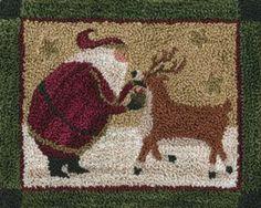 Make this one like a Rudolph!!  Punchneedle Patterns - patterns by teresa kogut
