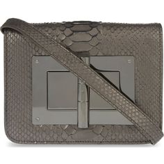TOM FORD Natalia metallic python leather clutch ($4,170) ❤ liked on Polyvore featuring bags, handbags, clutches, anthracite, leather handbags, real leather purses, zipper purse, metallic purse and leather clutches