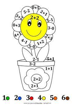 דף צביעה לפי מספרים Kindergarten Math Worksheets, Preschool Learning Activities, Kindergarten Lessons, English Lessons For Kids, English Worksheets For Kids, Math For Kids, School Themes, Kids Learning Activities, Math Worksheets
