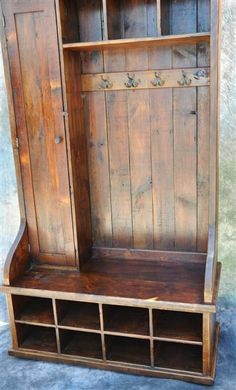 """Country Marketplace - Reclaimed Wood Mudroom Organizer 48"""", $2,499.00 (http://www.countrymarketplaces.com/reclaimed-wood-mudroom-organizer-48/)"""