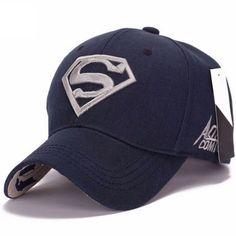 Superman DC Comics Boys Youth Sublimated Action Hat Cap Blue Adjustable