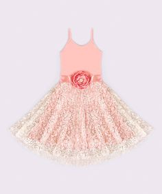 89d34b8a9ab5 This Mia Belle Baby Pink Crème Amie Dress - Toddler  amp  Girls by Mia Belle