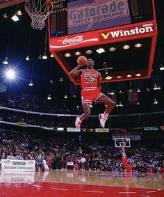 Michael Jordan  1988, Chicago  In perhaps the NBA's best dunk contest, hometown favorite Jordan edged Dominique Wilkins 147-145 in the finals to become the first repeat winner. Needing a 48 on his final attempt to overtake Wilkins, Jordan scored a 50 after taking off just inside the free-throw line for a dunk.