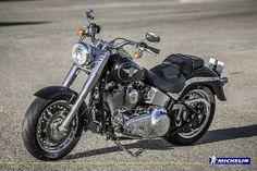 Harley-Davidson Fat Boy with co-branded Harley-Davidson MICHELIN Scorcher 32 tyres