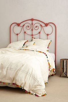 Switch up your bedroom with a simple fringe duvet cover.