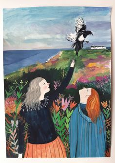 Dunwich and Magpies - Original painting / Melodie Stacey