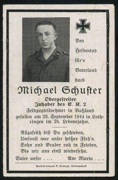 orig. WK2 STERBEBILD - DEATH CARD - LUFTWAFFE - FRANKREICH 1944 - LOTHRINGEN