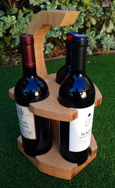 Wine caddy by JKwdwrk on Etsy, $65.00
