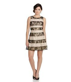 Jessica Simpson Metallic Lace Fit-and-Flare Dress | Dillard's Mobile