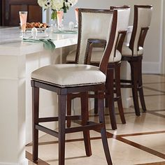 Elevate your home decor with comfortable and durable bar stools from Frontgate. Find high-quality, stylish kitchen counter stools and bar chairs online. Counter Height Bar Stools, Bar Counter, Upholstered Bar Stools, Small Room Decor, Bar Chairs, High Chairs, Dining Chair, H & M Home, Condo Living