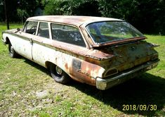 This 1960 Ford Ranch Wagon has been sitting for years. It has no engine, but lots of rust. Is this a viable restoration or simply rolling parts? #Ford, #RanchWagon