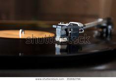 Record Player Stylus On Rotating Disc: stock fotografie (k okamžité úpravě) 355692794 Stylus, Record Player, Espresso Machine, Coffee Maker, Photography, Image, Coffee Maker Machine, Turntable, Coffee Percolator