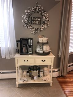 Coffee bar #Rae Dunn coffee station