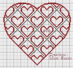 Xmas Cross Stitch, Cross Stitch Kitchen, Cross Stitch Heart, Cross Stitching, Beginning Embroidery, Minnie Baby, Wedding Cross Stitch Patterns, Blackwork Embroidery, Plastic Canvas Patterns