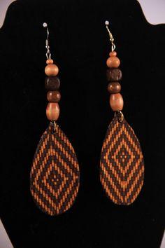 Boucles d'oreilles tissu imprimé africain par NattyLookLLC sur Etsy