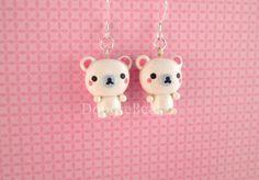 Polar Bear Kawaii Cute Polymer Clay Earrings