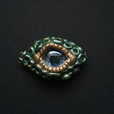 Green Dragon Eye Magnet by LunaPetals on Etsy https://www.etsy.com/listing/237720474/green-dragon-eye-magnet
