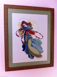 "Cross Stitch ""Angelica"" Completed -Design by Marilyn Leavitt Imblum - Angel - 100% Positive feedback"
