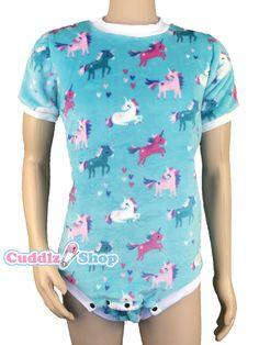 Cuddlz Colourful Unicorn Adult Short Cuddle Fleece Onesie 6ae0265a3