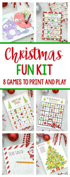 Christmas Fun Kit-Print and play these 8 games and activities with your kids