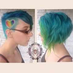 This rainbow-filled heart. | 16 Colorful Undercuts That Are Insane And Great At The Same Damn Time