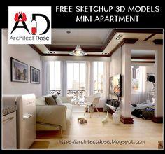 FREE SKETCHUP 3D MODELS MINI APARTMENT