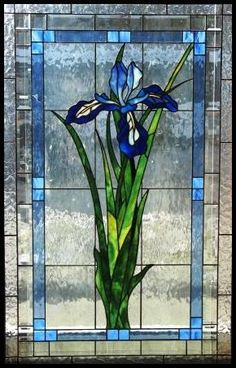 My Mother's Favorite flower after yellow roses! Prairie Stained Glass Representational Design #StainedGlassArt