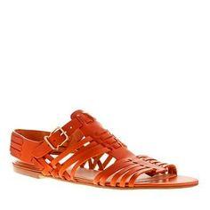 #Orange Sandals