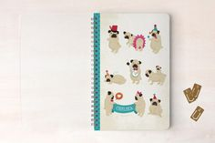 Pugs on Parade Day Planner, Notebook, or Address Book by Pistols at minted.com