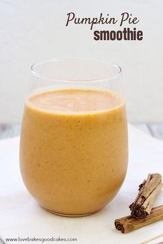 This seasonal Pumpkin Pie Smoothie is not only tasty, but good for you! It is packed with vitamin A, potassium and fiber.