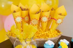 Treats at a Sunshine Party #sunshine #partytreats