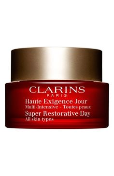 Clarins Super Restorative Day Cream available at #Nordstrom-- love the smell and the consistency! An amazing face moisturizer!