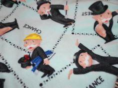 Monopoly Love Knot Blanket  Mint green & black plaid tobeesgifts, $28.95