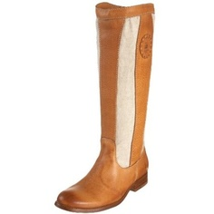 FRYE Women`s Melissa Patch Boot,Natural,7.5 M US