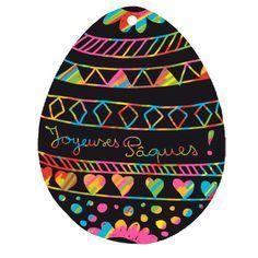 Oeuf de Pâques en carte à gratter