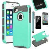 iPhone Case, iPhone 4 Case, ULAK Fashion Armor Case for iPhone and iPhone 4 Cover with Screen Protector and Stylus (Light Blue/Gray) Iphone 4 Cases, Pc Cases, Iphone 4s, Apple Iphone, Thing 1, Best Smartphone, Best Iphone, Screen Protector, Cell Phone Accessories