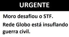 É a Dilma ou a Globo! Dilma ou Globo!  A Globo massacra a cabeça do brasileiro e massacra a Dilma  Presidenta! Demite toda a PF Já! URGENTE!!   Compartilhe! Compartilhe já! #MoroNaCadeia #FimDaPolíciaFederal   https://www.youtube.com/watch?v=W7_wplYgHB8