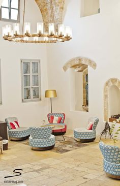 Interior of The Efendi Hotel in #Acres, #Israel. Explore more hotel recommendations in #sisterMAG8. Photo: Sivan Askayo