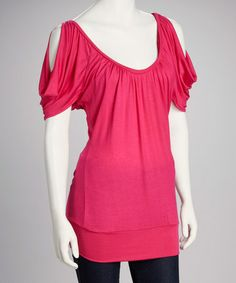 Another great find on #zulily! Fuchsia Cutout Top #zulilyfinds