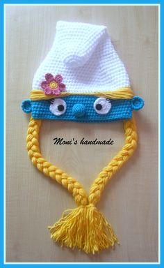 crochet smurfette hat