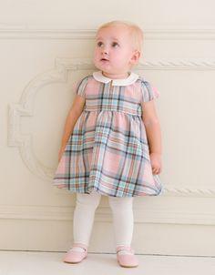Pink Tartan Woollen Baby Dress   Seraphine Baby