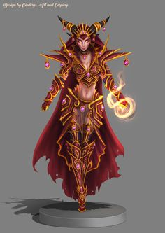 Glorious Alexstrasza - Queen of Life by Cinderys