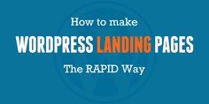 wordpress landing page creation
