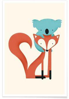 foxandKoala en Affiche premium par Jay Fleck   JUNIQE